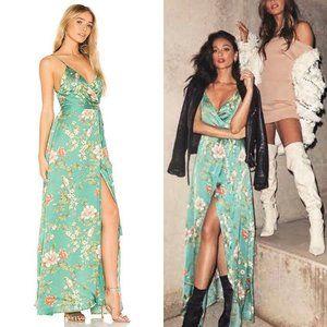 Majorelle Cubano V-neck Low Back Plunge Maxi Dress